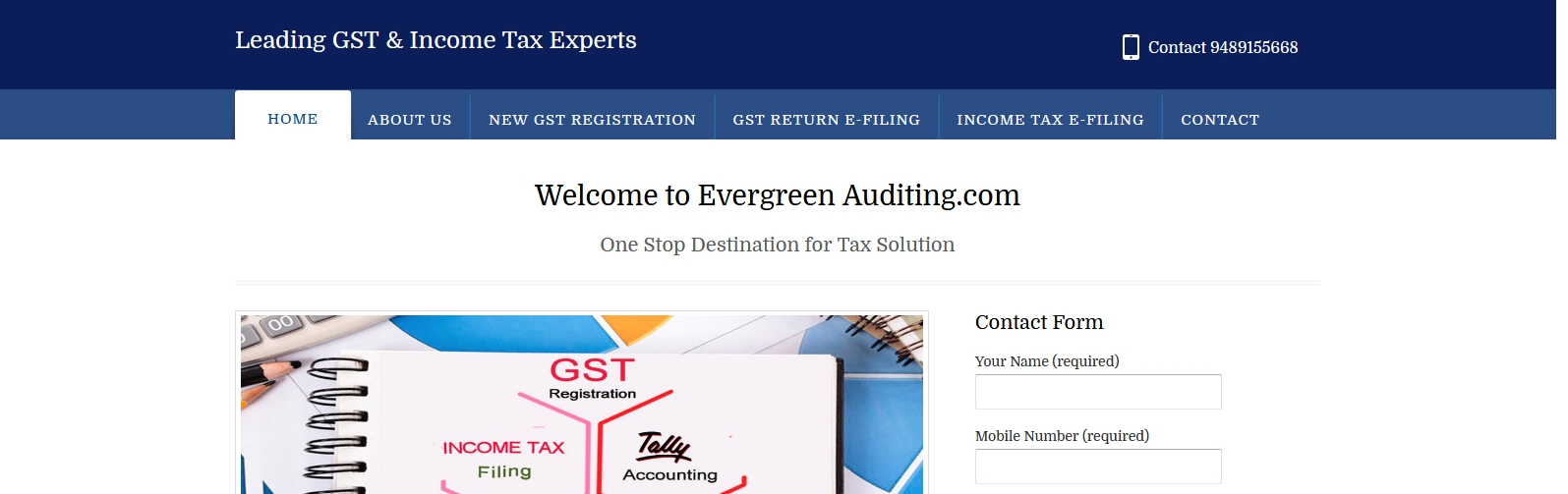 evergreen-auditing-homepage